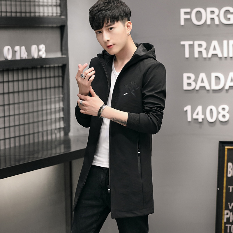 100% polyester Paragraph dust coat grows in autumn and winter youth coat blazer jacket male JK07 - P85 43
