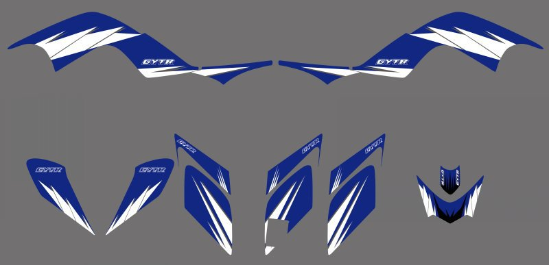 0325 Sky Blue New Style Team Decals Stickers Graphics Kits