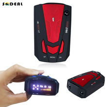 Detector Russian/English New Car Radar Detector 16 Band Voice Alert Laser V7 LED Display detetor red color hot selling-blue