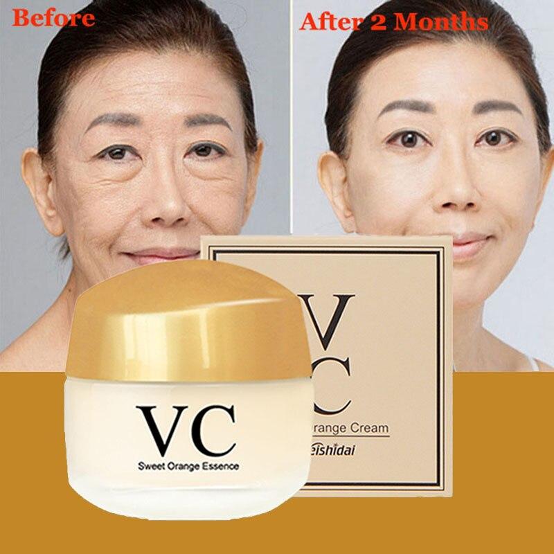 Hautpflege Vitamin C Creme Für Anti-Aging Anti-falten Feuchtigkeits Bleaching Anziehen Schönheit Gesicht Creme Koreanische Kosmetik