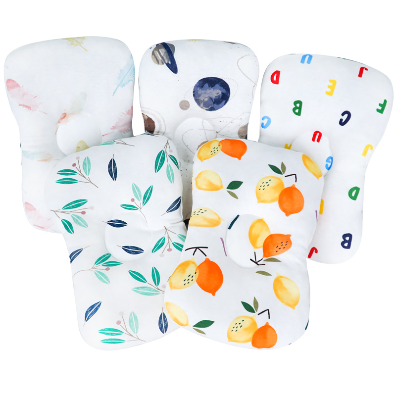 Muslinlife Head Protection Neck Baby Pillow Soft Cotton Kids Pillow Animal Printed Square Pillow Room Decoration Dropship