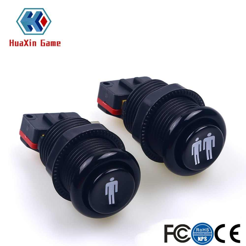 Happ Style 1 Player / 2 Player Start & American Push Buttons With Micro Switch For Arcade Machine Games Mame Jamma Parts