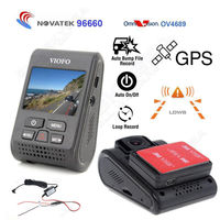 Free Shipping Car Dash Camera DVR A119 Capacitor Novatek 96660 2K HD GPS Logger Hard Wire