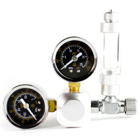 Aquarium Co2 Regulator Tank Live Plant Flow Pressure Control Check Valve Bubble Counter Decompression Table Cylinder Adapter