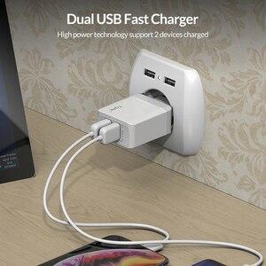 Image 2 - Caricabatterie USB TOPK B244 Quick Charge 3.0 18W per iPhone Xs X 8 7 caricabatterie rapido per telefono Samsung Xiaomi caricatore da muro EU