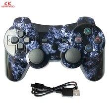 K ISHAKO لسوني PS3 وحدة تحكم بلوتوث غمبد Manette لسوني بلاي ستيشن 3 المقود لوحة ألعاب لاسلكية ستة محاور المزدوج فيرات