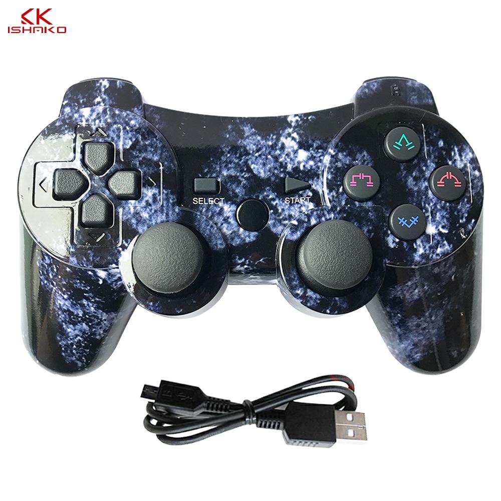 K ISHAKO для sony PS3 Bluetooth контроллер геймпад Manette для игровая приставка Сони 3 беспроводной джойстик геймпад SIXAXIS двойной вибрат-in Геймпады from Бытовая электроника