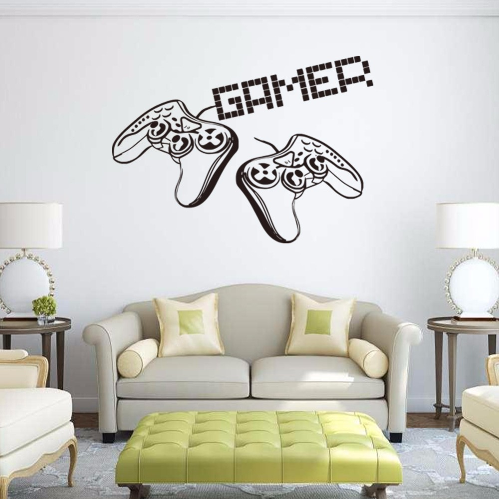 compare prices on sticker gamers online shopping buy low price new game handle vinyl wall decal home decor living room diy wallpaper gamer removable wall stickers