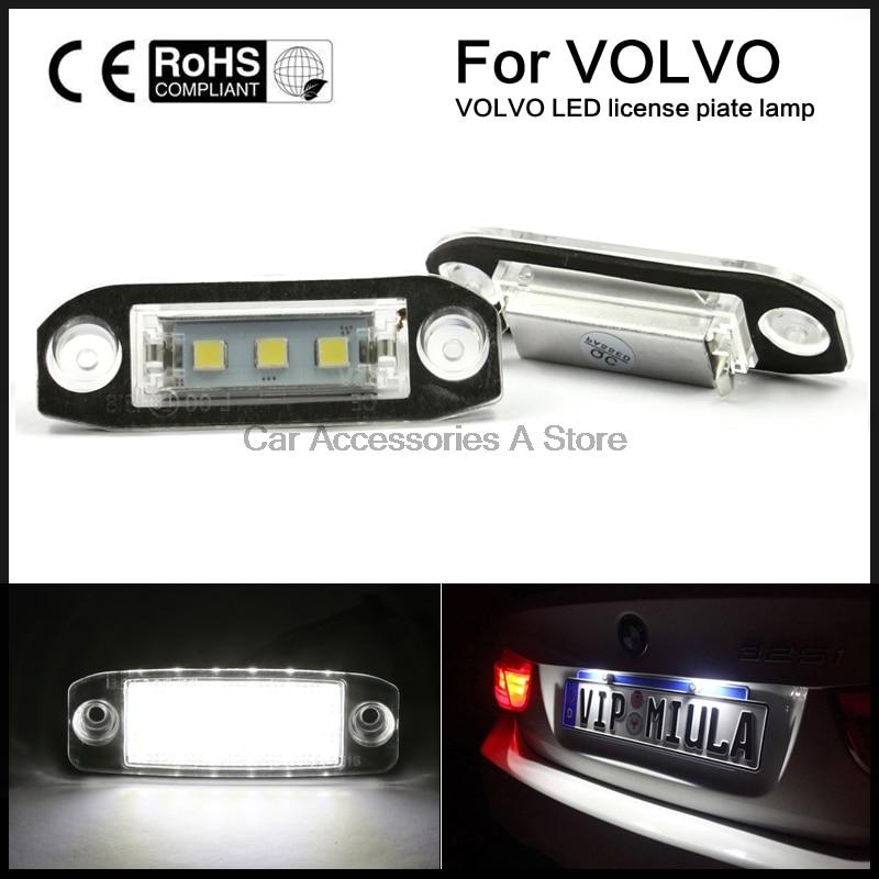2x из светодиодов Белый номерного знака света для Вольво S80 или V70 S40 на XS60 Хс90 ХС60 с V60 V50 с