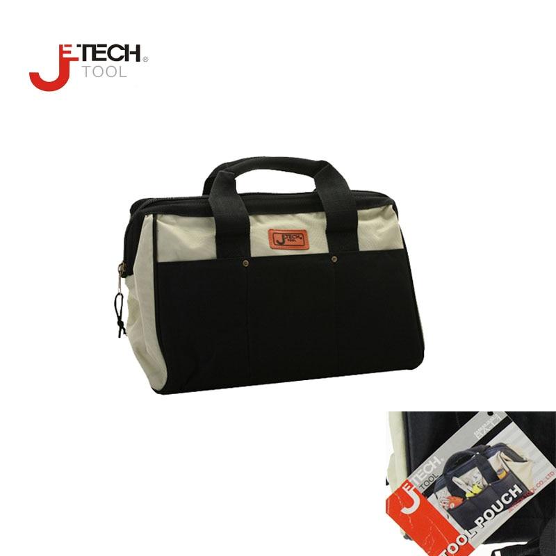 Wholesale Jetech wide mouth electrical maintenance mechanics tote tool carrier organizer tool bag w/ shoulder strap 13 inch fluid mechanics