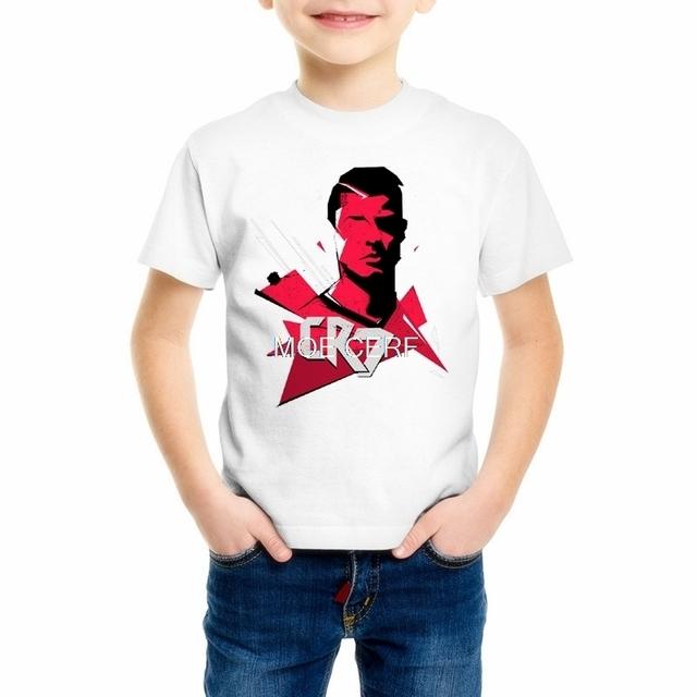 New summer style Cristiano Ronaldo print 3d Kids/Baby t shirt casual t shirts street wear camisa Boy/Girl CR 7 Top Tee Z9-8