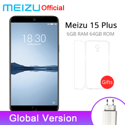 Official Meizu 15 Plus 6GB RAM 64GB ROM Global Version SmartPhones Exynos 8895 Octa Core 5.95