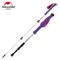 Naturehike Carbon Fiber Walking Stick Trekking Poles Alpenstock Hiking Cane Ultralight Adjustable 1PCS 3 Section His