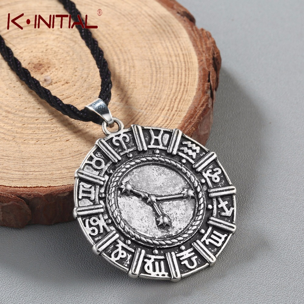 Aliexpress Com Buy 2 In 1 Constellations Pendant Amulet: Kinitial Zodiac Constellation Necklace Birthday Necklace