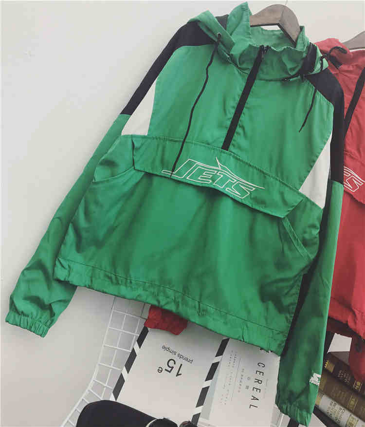 2018 fashion women jacket coat windbreaker jacket coat spring women bomber jacket black outerwear bright pullover