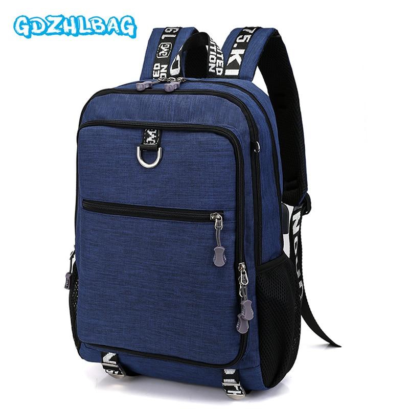 Anti theft Canvas Bag Men's Backpack 15.6 Inch Laptop Notebook Mochila for Waterproof luggage Back Pack school mochilas B236