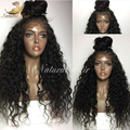 Cheap 180% Density Long Curly Full Lace Wig Virgin Mongolian Lace Front Wig Kinky Curly Human Hair Wigs For Black Women