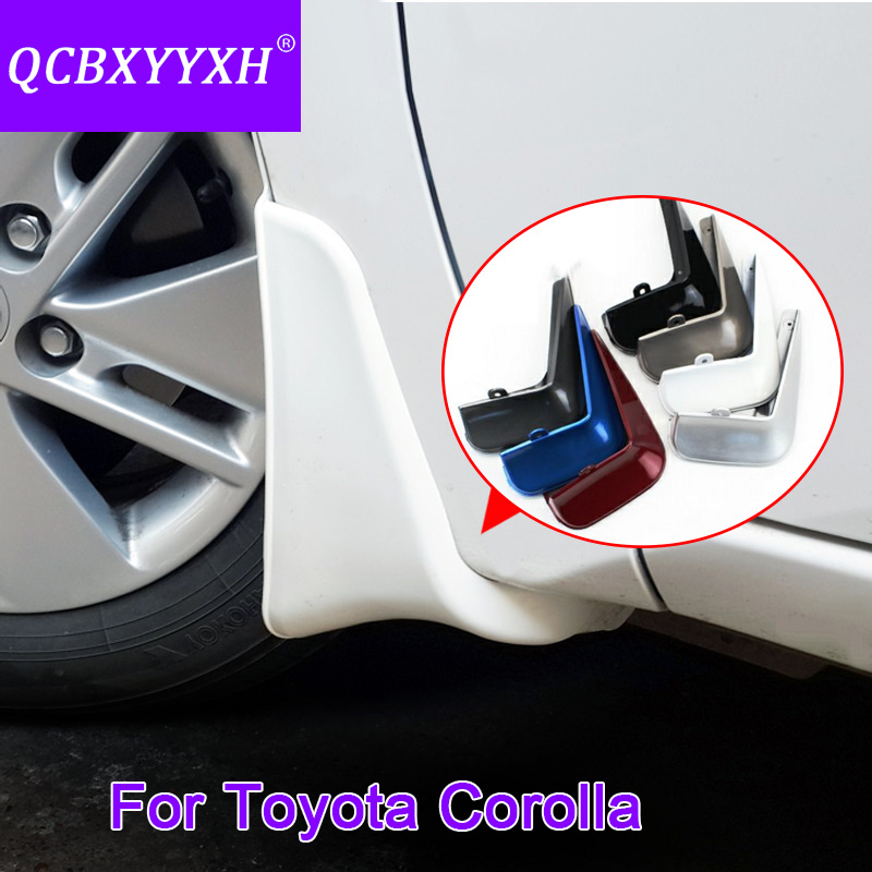 4pcs lot Car Styling Mud Flaps Splash Guard Mudguard Mudflaps Fenders Perfector External Decoration For Toyota