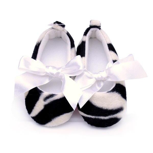 Весна и осень принцесса обувь малыша моды классический зебра печати скольжению детская обувь детская обувь