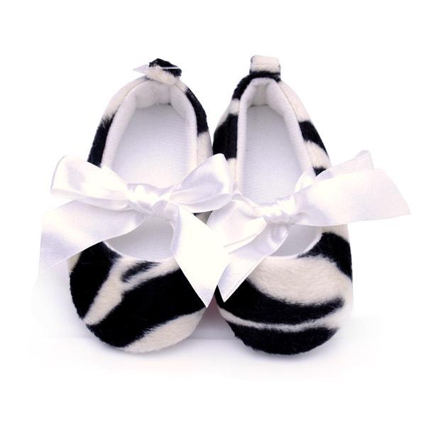 Primavera y otoño del niño de la princesa zapatos de moda de impresión de la cebra clásico antideslizante zapatos de bebé zapatos de bebé