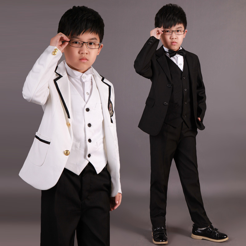 Suit For Boys Children Stage Performance Singger Formal Suits Wedding Birthday Flower Boys Suit School Students Costume 5Pcs F61 organizational culture and school performance