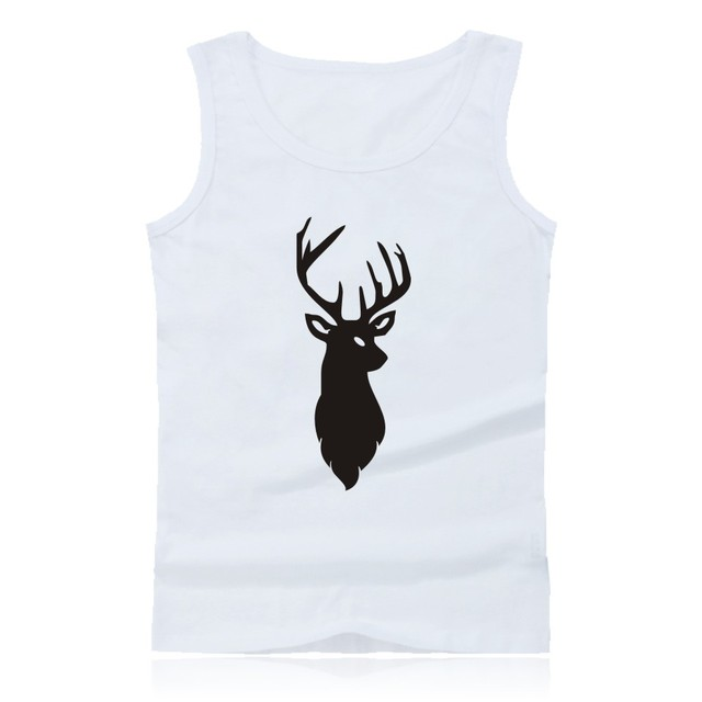 9ea60bf215139 Marry Christmas Tank Top Size Christmas Deer Men Cool Fashion Sleeveless  Tops Anime Life Street Wear Style Shirts Summer Vests