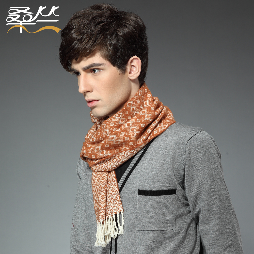 Men 39 S Wool Scarf Winter Classic Bohemian Style Fashion All Match With Multiple Geometric