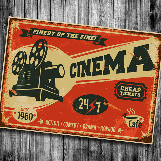 Superbe Cinema Cheape Tickets Vintage Poster Bar Kitchen Retro Kraft Paper Posters  Movie Poster Wall Sticker Art