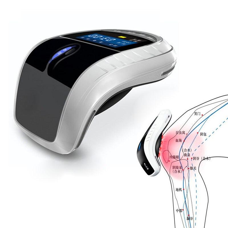 Холодный лазер Колено Терапии процедуры массажер колена боли физиотерапия электротермического наколенники для ревматизме артрит массаже...