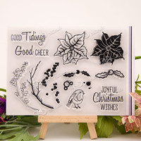 Scrapbook DIY Photo Cards Account Rubber Stamp Clear Stamp Transparent Stamp Vintage For The Leaves And