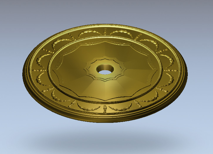 3D Round Plate Ring Relief Model In STL Format For CNC Router Carving Engraving Artcam Aspire R63