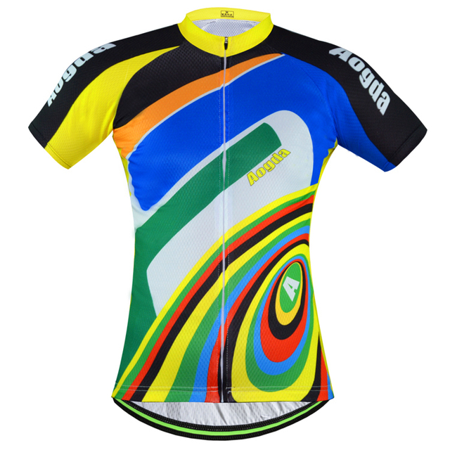 33c7703d3 2016 New Men s Rainbow Jersey Cycling Bicycle Bike Clothing Outdoor Jacket  Top Shirt Sportswear Breathable Size S-XXXL