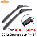 "Qeepei wiper blades para kia optima 2012 em diante 24 ""+ 18"" de alta qualidade iso9001 borracha natural limpar frente brisa f03"