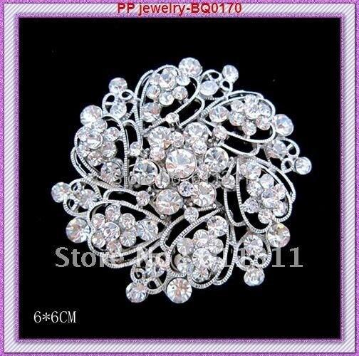 Quality pearl diamante crystal bling brooch borach pin bouquet wedding bridal