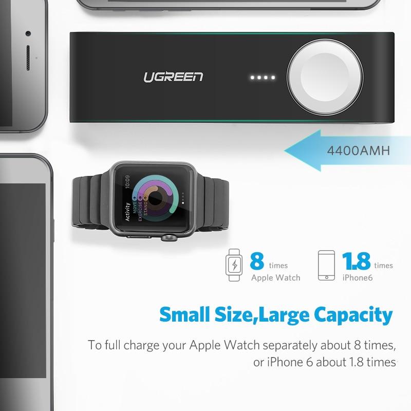 Ugreen Chargeur Sans Fil Puissance Banque 4400 mah pour Apple Montre 4/3/2 iPhone X 8 Externe Batterie chargeur pour Mobile Téléphones Poverbank - 3