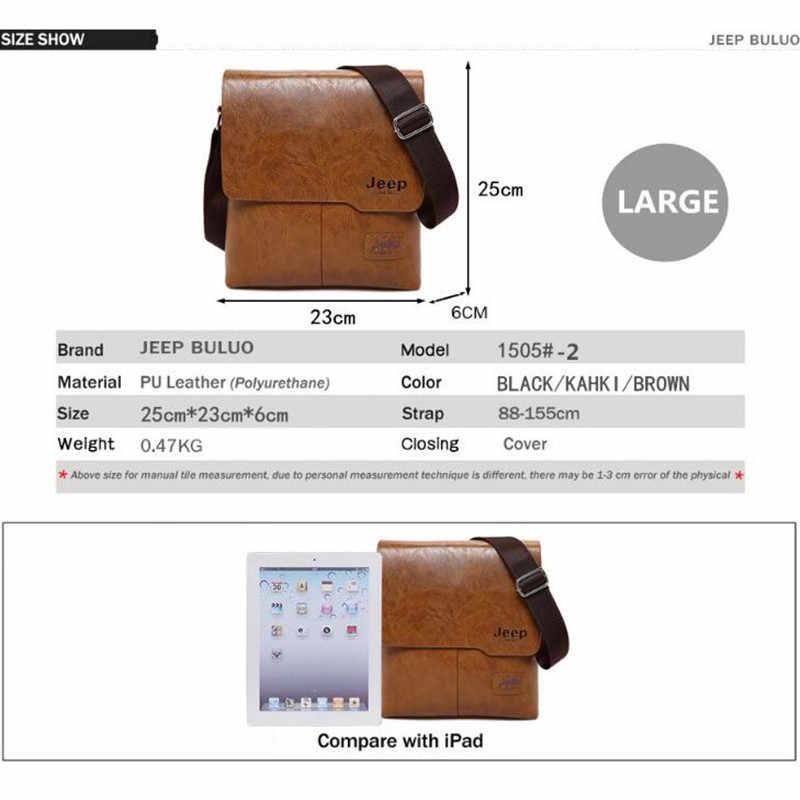 e57717ca0ad2 ... Для мужчин сумки комплект Jeep buluo известный Фирменная Новинка модная  мужская кожаная сумка мужской Креста тела ...