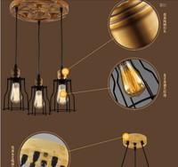 Творческий Дерево RH Стиль промышленный подвесной светильник with3 огни в Америке деревенский Винтаж лампа Lamparas Lampen hanglamp