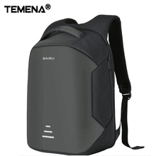 2017 New Design anti-theft Exterior USB cost port for 16 Inch laptop computer backpack males backpack college backpack bag