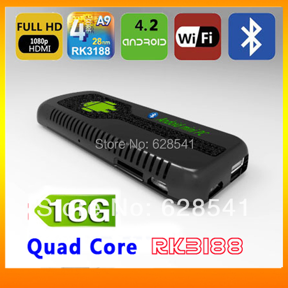 US $52 99  UG007B Mini PC HDMI TV Dongle Stick Rockchip Rk3188 1 6Ghz Quad  Core 2GB RAM 16GB ROM WiFi Antenna Free Shipping-in TV Stick from Consumer