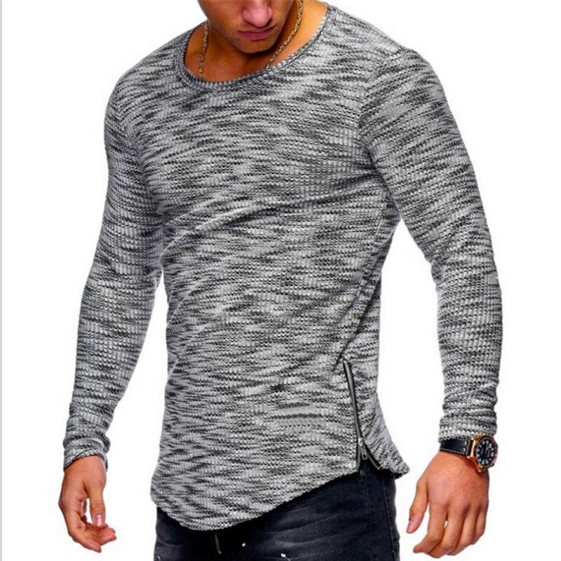 98d1fc8397f Vertvie Men Running T-shirts Slim Summer Top Long Sleeve Zipper T-shirt  Homme Cool Streetwear Tshirt Male Tops Tees 2019 New