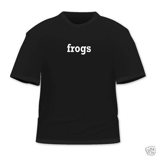 frogs Funny One word T Shirt All colours & Sizes New Tops Tee Unisex 2018 Arrival MenS Fashion