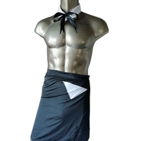Novelty Mens Sexy Lingerie for Men Party Gay Servant Costume Nightwear Underwear Bow Tie Cuff Sets