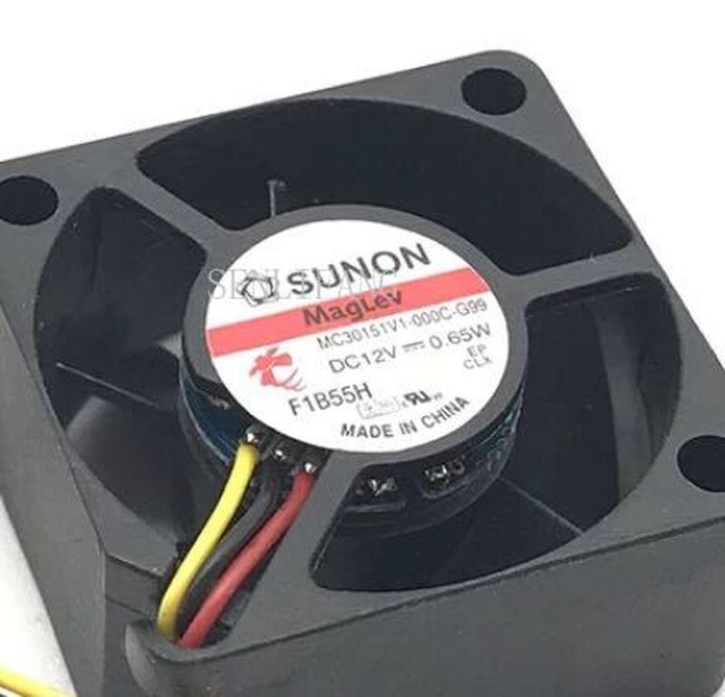 For Original SUNON MC30151V1-000C-G99 DC 12V 3015 0.65W 30*30*15MM 3CM 3-wire Cooling Fan