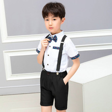 Летний костюм для мальчиков, садовый костюм для студентов, костюмы, форма, полиэстер, детская модная одежда, детская одежда, Али 300