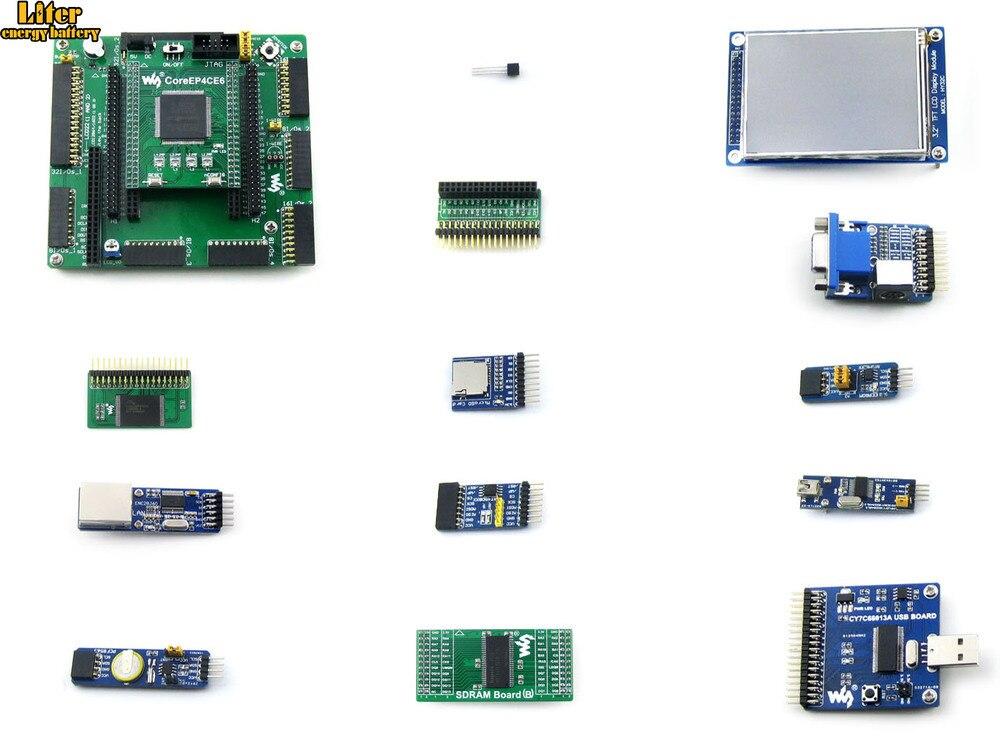 Altera Cyclone Board EP4CE6-C EP4CE6E22C8N ALTERA Cyclone IV FPGA Development Board + 12 Accessory Kits = OpenEP4CE6-C Package A