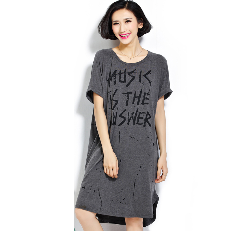 T Shirt Women O Neck Short Sleeve Long tshirt Women Letter Print Cotton Women Tops Plus Size Women Clothing FOR people 60~120kgs ...