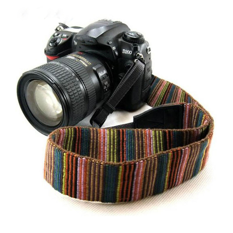 DOITOP Camera Shoulder Neck Strap for Nikon for Canon for Sony DSLR Camera Vintage Style Canvas Camera Shoulder Wrist Belt A3