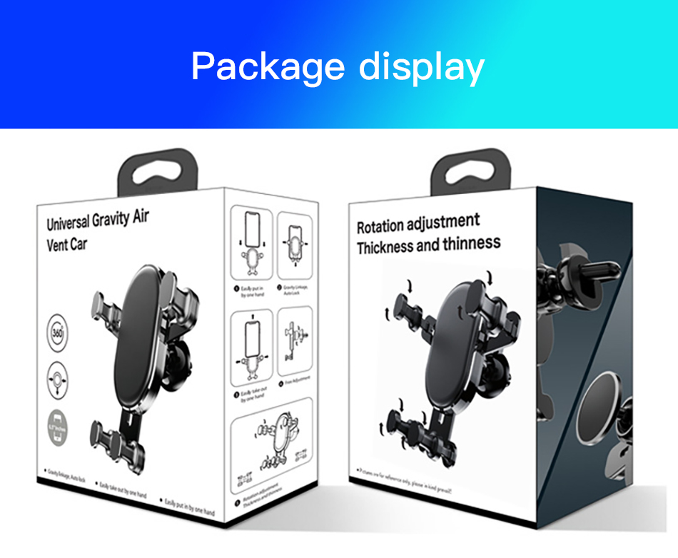 !ACCEZZ Universal Gravity Car Phone Holder In Car Air Vent Mount Stand For iPhone 6 7 8 X XS Samsung Xiaomi Mobile Phone Bracket (19)