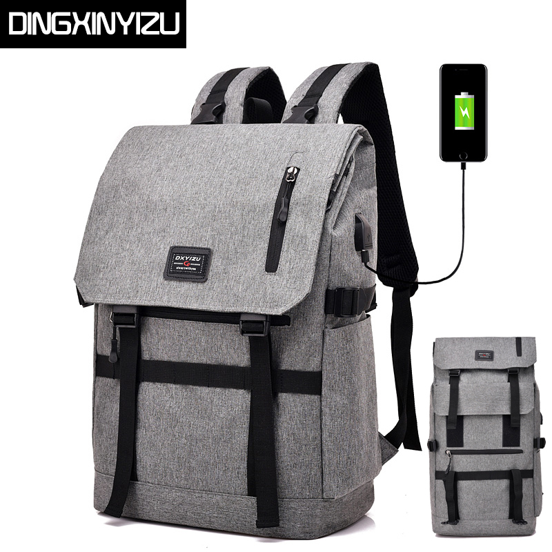 DINGXINYIZU USB Charge Men Backpack Large Capacity Laptop Backpack Stundet School Bag Casual Women Rucksack Male Daypack Mochila men backpack student school bag for teenager boys large capacity trip backpacks laptop backpack for 15 inches mochila masculina