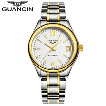 GUANQIN watches women fashion luxury sapphire Waterproof full steel wristwatches Lady watch women brand women's dress watches